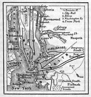 Plan von New York